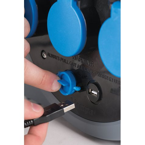 additional image for Kampa 3 Way Mains Roller With USB & Light