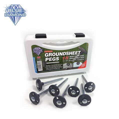 Blue Diamond Heavy Duty Groundsheet Pegs