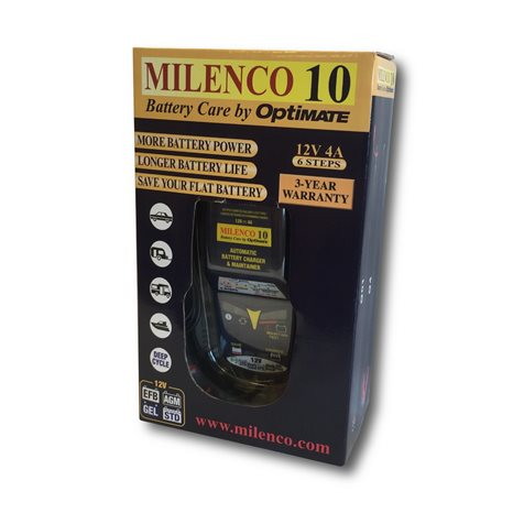 additional image for Milenco 10 by Optimate Multi Step Smart Battery Charger