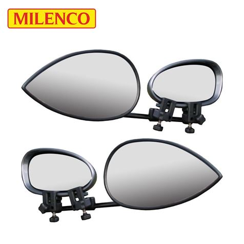 Milenco Aero 3 Flat Towing Mirror Twin Pack