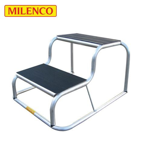 Milenco Aluminium Rubber Top Double Step