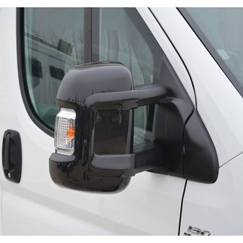 additional image for Milenco Motorhome Black Mirror Protectors - Long Arm