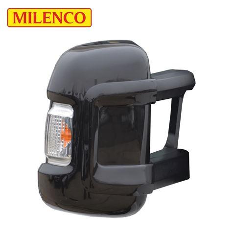 Milenco Motorhome Black Mirror Protectors - Long Arm