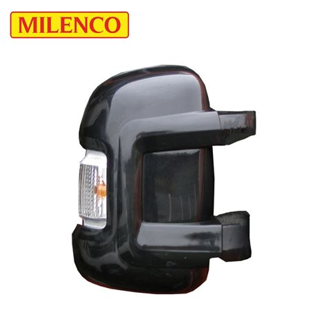 Milenco Motorhome Black Mirror Protectors - Short Arm