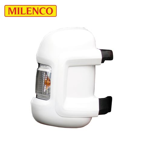 Milenco Motorhome White Mirror Protectors - Short Arm