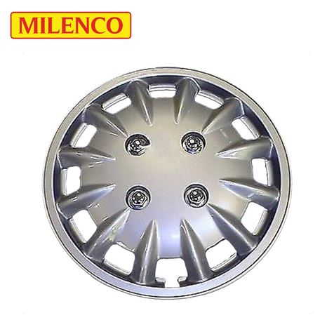 "Milenco 14"" Silver Caravan Wheel Trims"