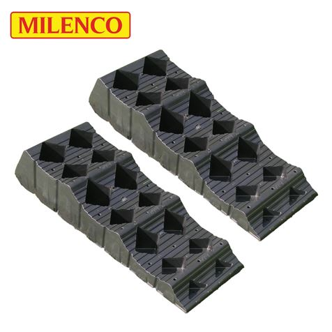Milenco MGI Midi Level T2 Wheel Leveller Twin Pack