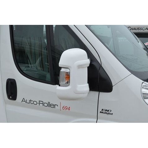 additional image for Milenco Motorhome White Mirror Protectors - Long Arm