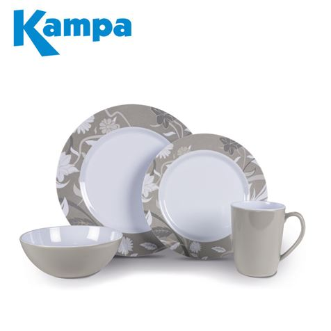 Kampa Bloom Heritage 16 Piece Melamine Set