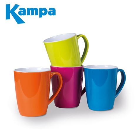 Kampa Mixed Colours 4 Piece Summer Mug Set