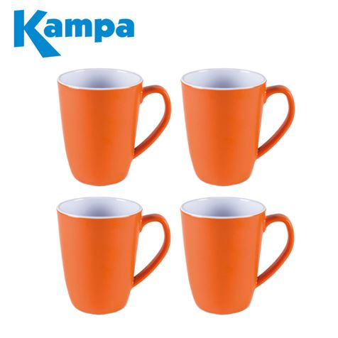 Kampa Tangerine 4 Piece Summer Mug Set