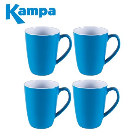 Kampa Vivid Blue 4 Piece Summer Mug Set