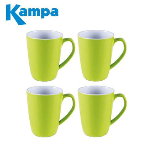 Kampa Citrus Green 4 Piece Summer Mug Set