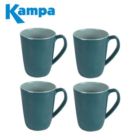 Kampa Terracotta 4 Piece Mug Set