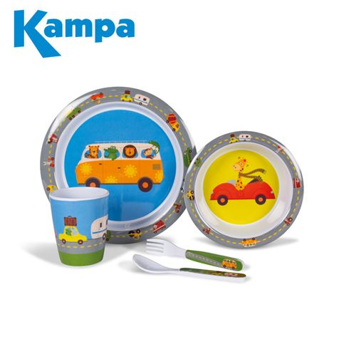Kampa Animal Traffic Childrens Melamine Set