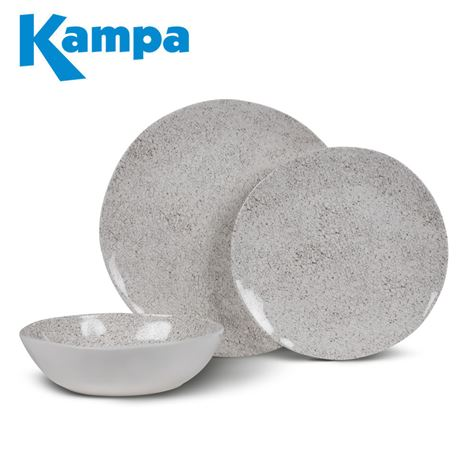 Kampa Natural Stone 12 Piece Melamine Set - New For 2020
