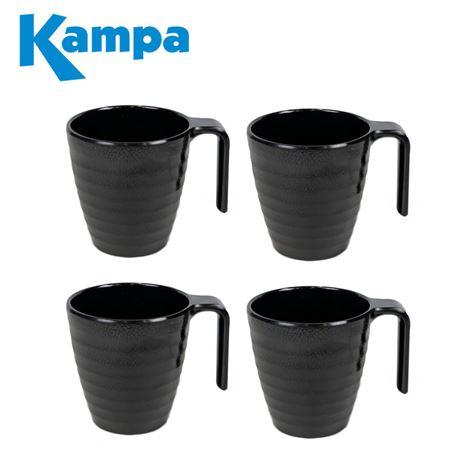 Kampa Ebony Cobble 4 Piece Mug Set