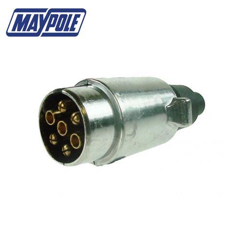 Maypole 12N Type 7 Pin Aluminium Plug