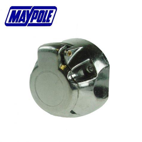 Maypole 12N Type 7 Pin Aluminium Socket