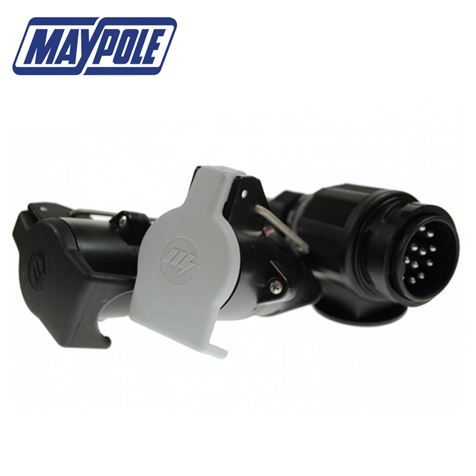 Maypole 13 Pin Vehicle to 7 Pin 12N&S Trailer Adaptor