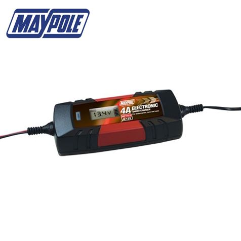 4A 12V Maypole Smart Battery Charger