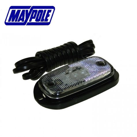 Maypole 12/24V LED Clear Front Marker
