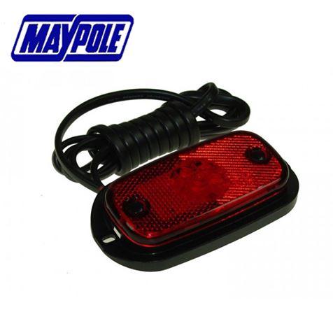 Maypole 12/24V LED Red Rear Marker