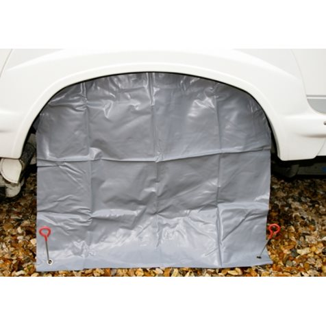 "additional image for Grey Caravan Wheel Cover & Pegs - 14"" to 16"""