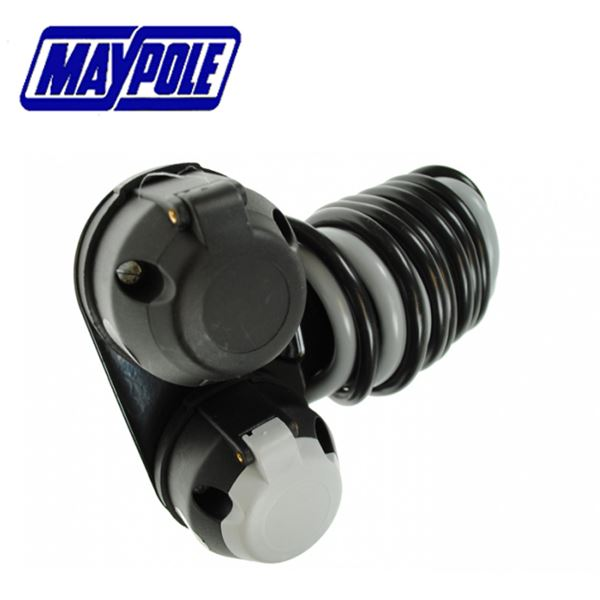 Maypole 7 Pin 12N&S Type Socket Assembly With Mounting Plate