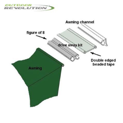 Outdoor Revolution 3 Metre Fiamma/Omnistor Driveaway Kit