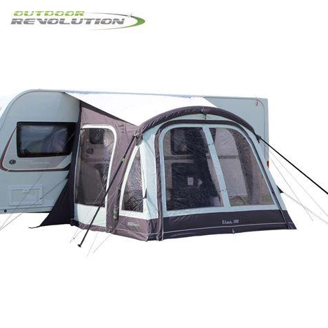 Outdoor Revolution Elan 280 Caravan Air Awning With FREE Carpet - 2019 Model