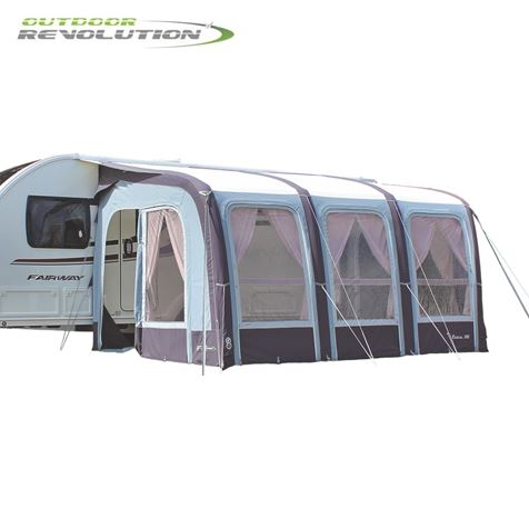 Outdoor Revolution Evora 390 Pro Climate Air Caravan Awning With FREE Carpet - 2019 Model