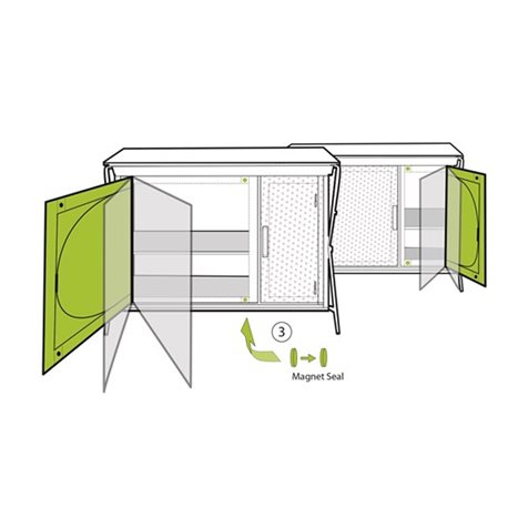 additional image for Outwell Bermuda Camping Wardrobe