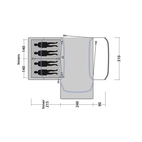 additional image for Outwell Hartsdale 4PA Air Tent - New for 2020