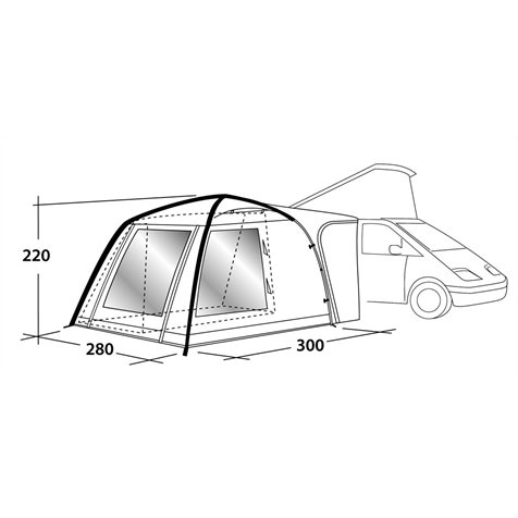 additional image for Outwell Milestone Air Driveaway Awning - 2019 Model