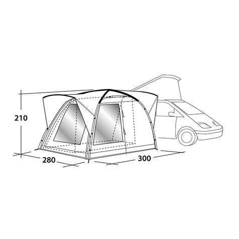 additional image for Outwell Milestone Pace Driveaway Awning