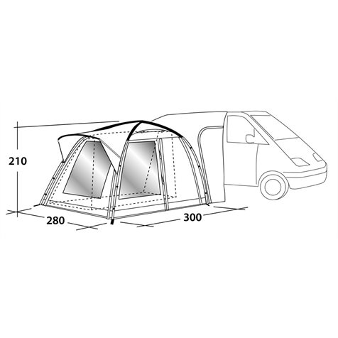 additional image for Outwell Milestone Pro Tall Driveaway Awning