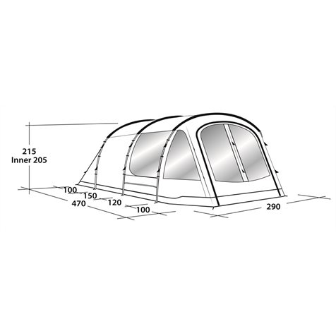 additional image for Outwell Nevada 4P Tent - 2019 Model