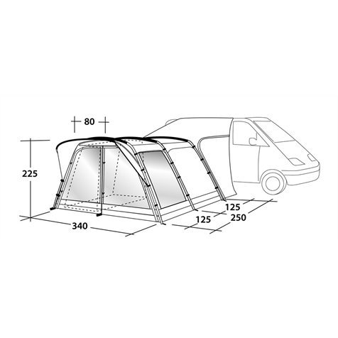 additional image for Outwell Scenic Road 250 Tall Driveaway Awning 2019 Model