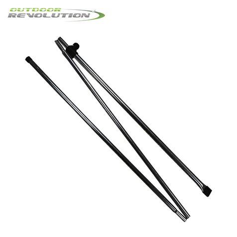 Outdoor Revolution 2 x Adjustable Awning Steel Pad Poles
