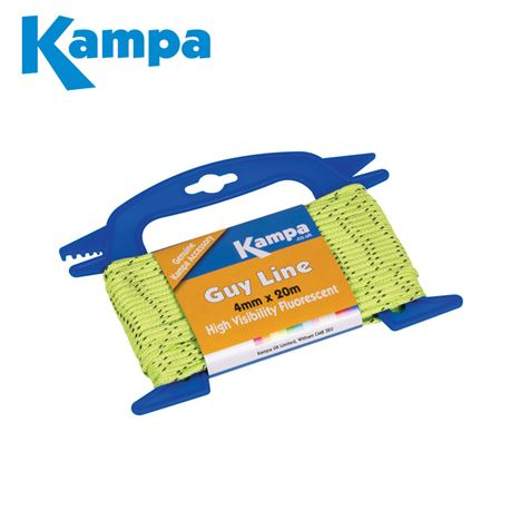 Kampa Fluorescent Guy Line 4mm x 20m
