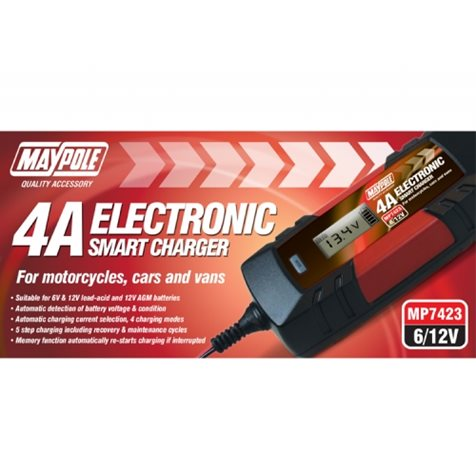additional image for 4A 12V Maypole Smart Battery Charger