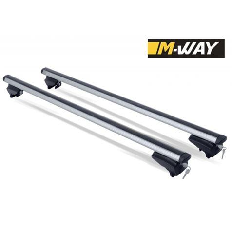 M-Way M-Profile Aluminium Aero Roof Bars For Flush Roof Rails 120cm