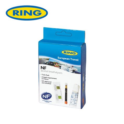 Ring Disposable European Travel Breathalysers Twin Pack