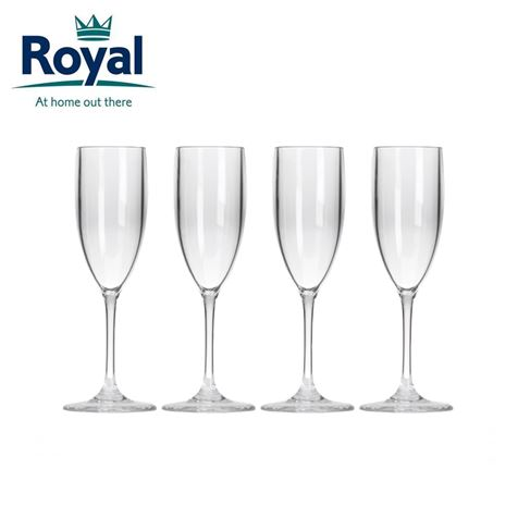 Royal Pack of 4 Prosecco Flutes