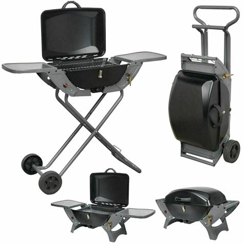 Crusader Portable Folding Gas Trolley Barbecue