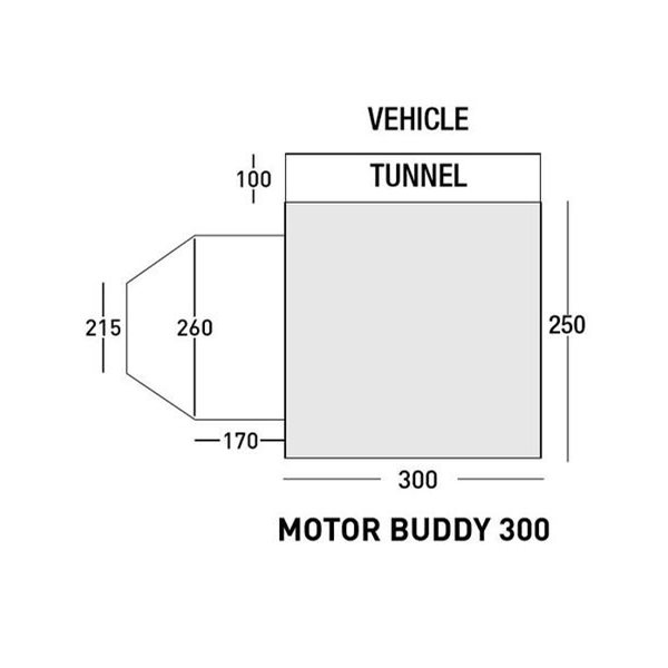 additional image for SunnCamp Motor Buddy 300 XL - 2021 Model