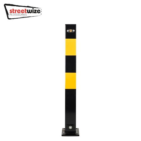 Heavy Duty Square Folding Parking Post - Large