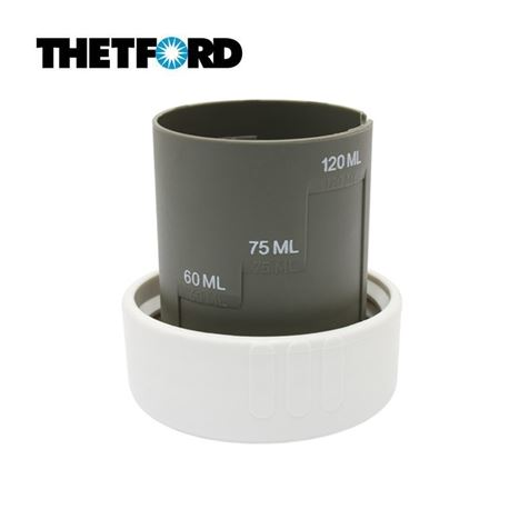 Thetford White Dump Cap With Measuring Cup
