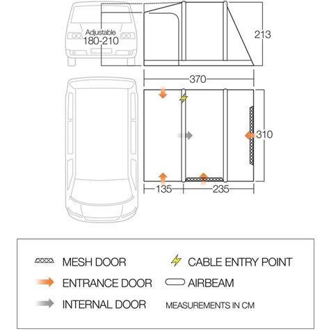 additional image for Vango Kela V Low Air Driveaway Awning - 2020 Model